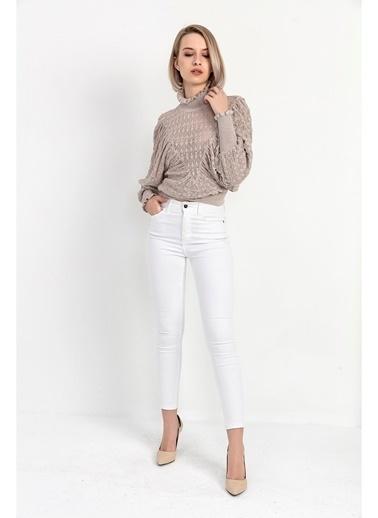 Tiffany&Tomato Yüksek Bel Skinny Jean Pantolon - Siyah Beyaz
